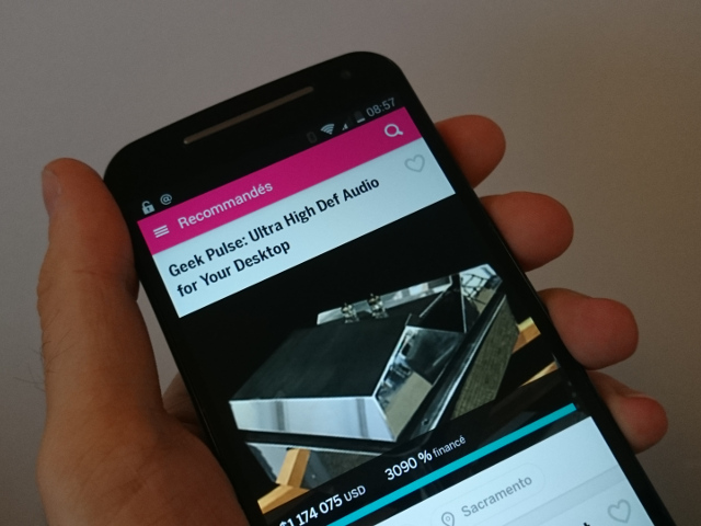 Indiegogo sur Android