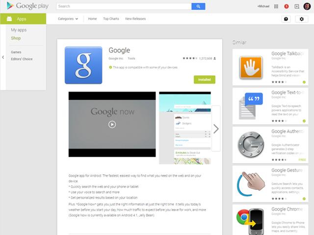 Le nouveau Google Play Store