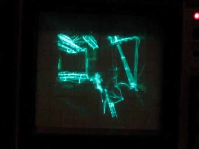 Quake sur oscilloscope