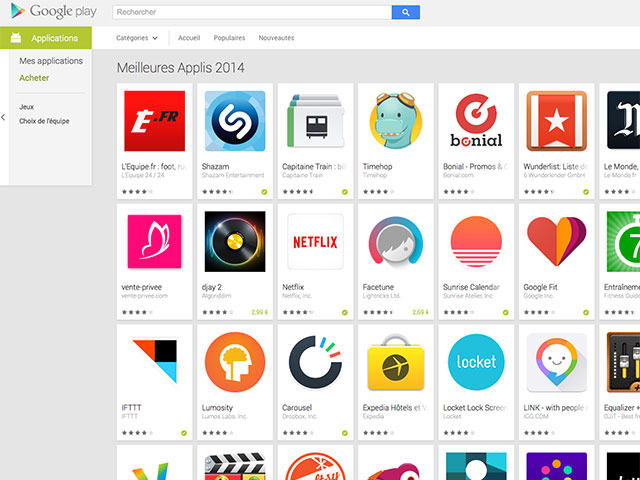 Sélection Play Store 2014