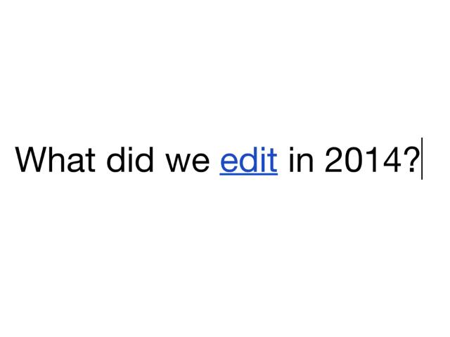 Wikipédia en 2014