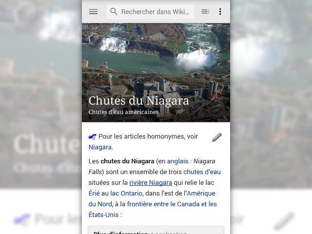Wikipédia Beta sur Android