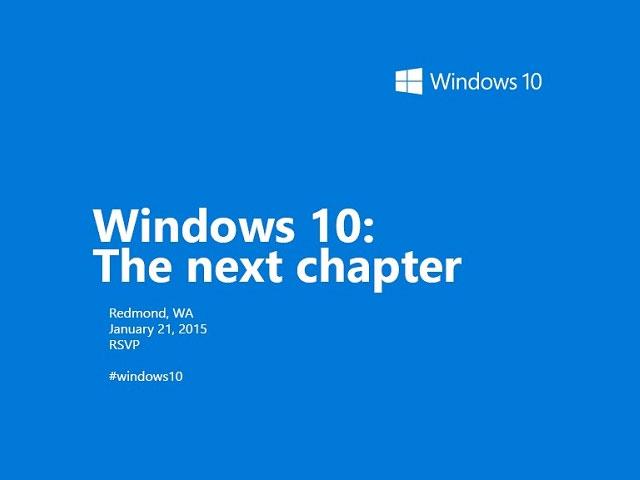 Windows 10 next chapter