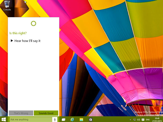 Activer Cortana sur Windows 10