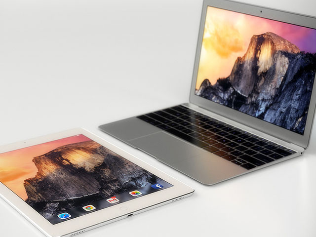 Concept iPad Pro + MacBook Air 12 pouces