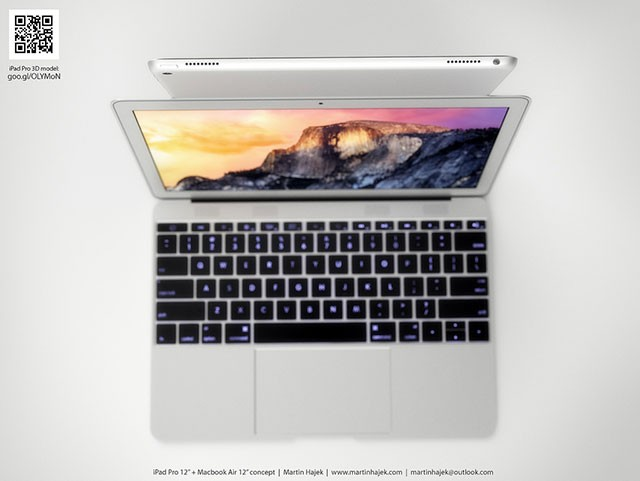 Concept iPad Pro + MacBook Air 12 pouces : image 3
