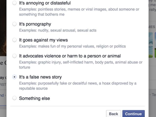 Le faux sur Facebook