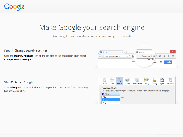 Google et Firefox