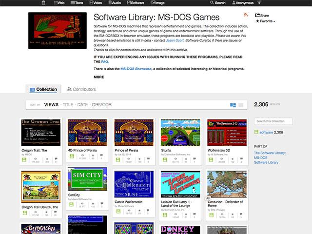 Jeux DOS en ligne