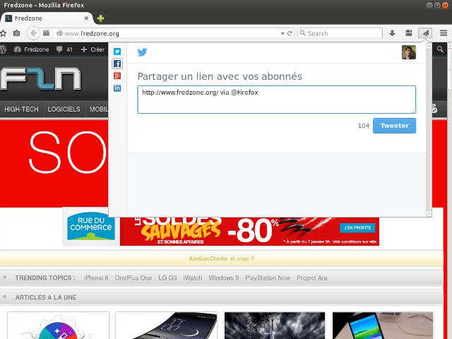 Partage avec Firefox