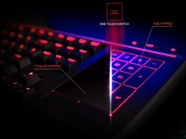 Le pavé numérique du MSI GT80 Titan