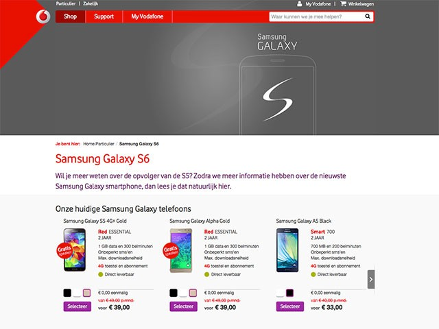Samsung Galaxy S Edge Vodafone