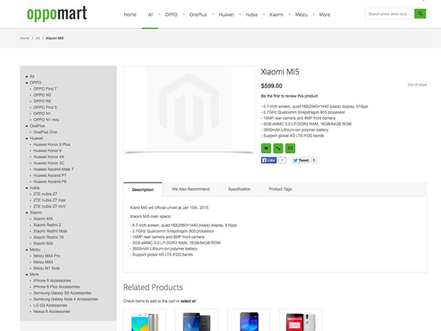 Xiaomi Mi5 Oppomart