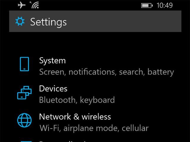 Capture Windows 10 mobile : iimage 1