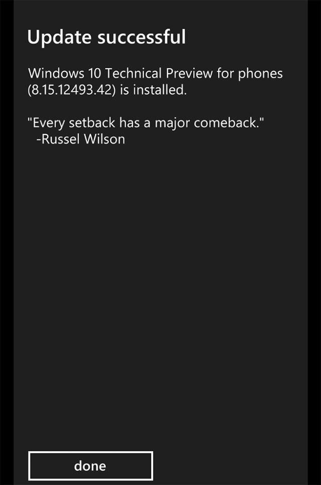 Capture Windows 10 mobile : image 2