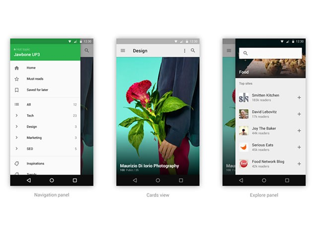 Feedly Material Design : image 2