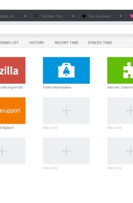 Firefox 36 sur tablettes