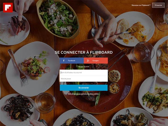 Flipboard web : capture 0