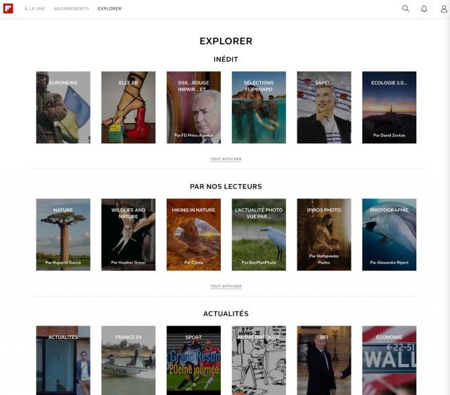 Flipboard web : capture 2