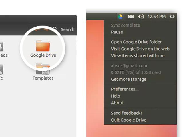 Google Drive sur Linux