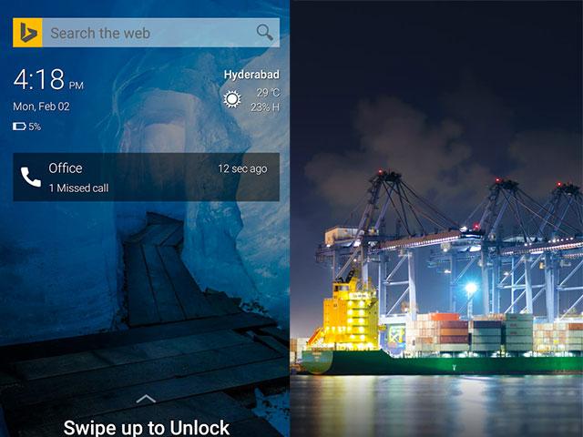 Ecran d'accueil Microsoft