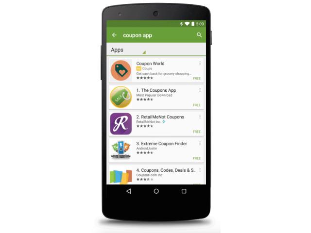 Publicité sur le Google Play Store