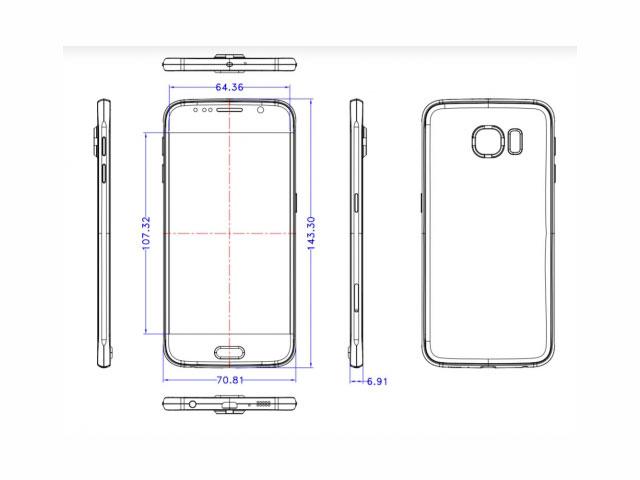Le Samsung Galaxy S6 serait aussi fin qu'un iPhone 6