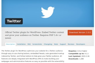 Twitter pour WordPress