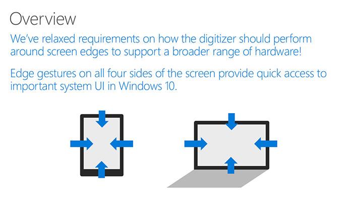 Gestures Windows 10 : diapo 3
