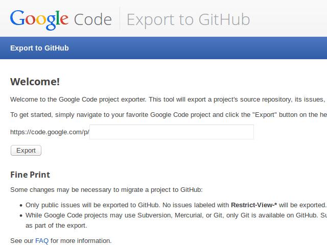Fin de Google Code