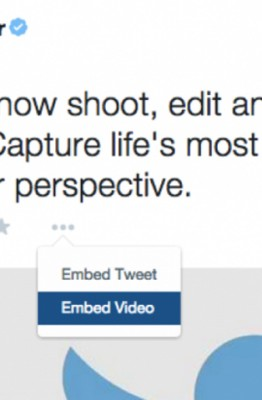 Intégration de vidéo Twitter