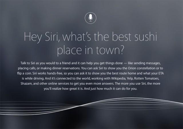 Commandes vocales Siri