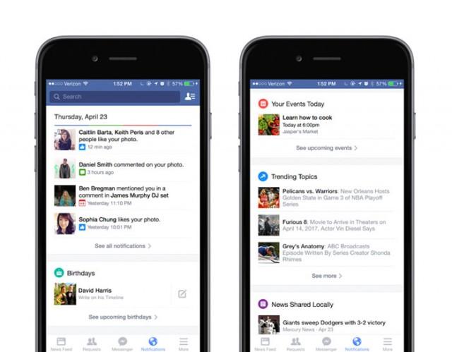 Notifications Facebook