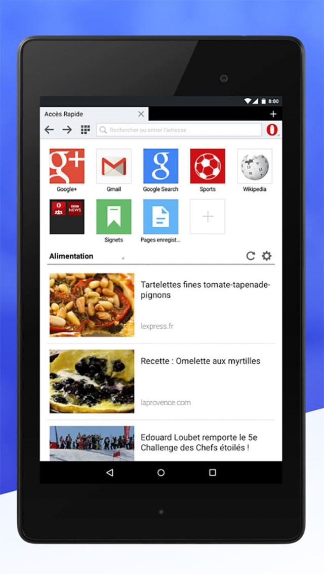 Opera Mini 8 : capture 3