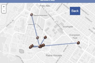 La carte du maraudeur Facebook Messenger
