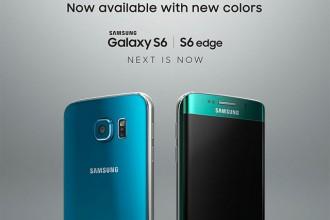 Nouvelles couleurs Galaxy S6 et Galaxy S6 Edge