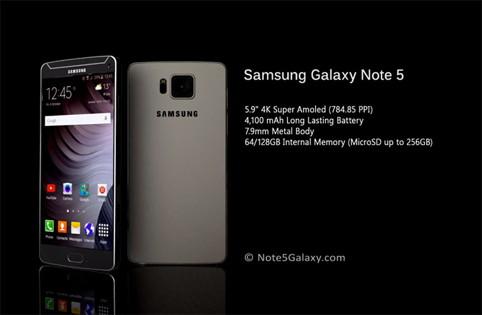 Concept Galaxy Note 5 : image 3