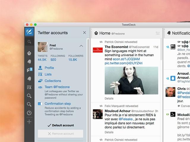 Nouvelle fonction TweetDeck