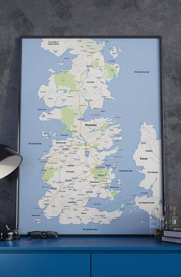 Westeros Google Maps