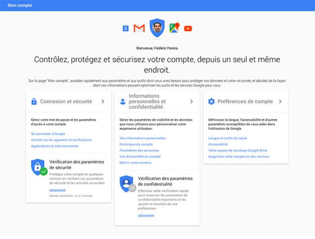 Google Mon Compte : image 2