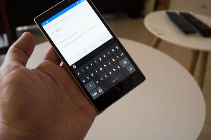 Windows 10 Mobile : clavier virtuel
