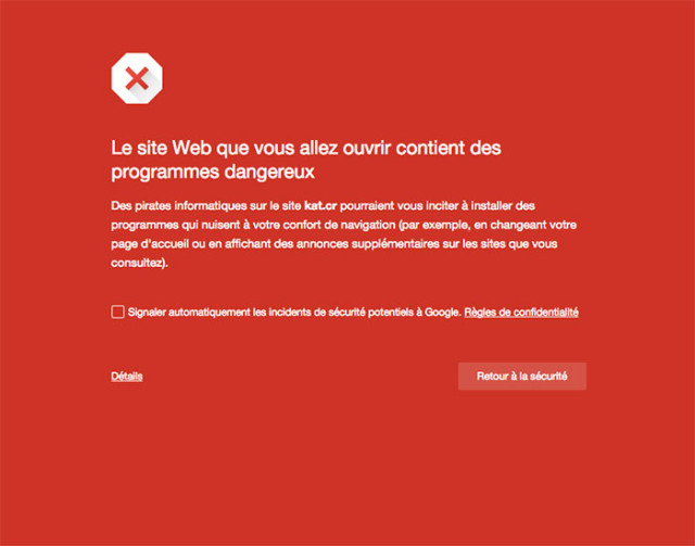 Avertissement KickAssTorrent