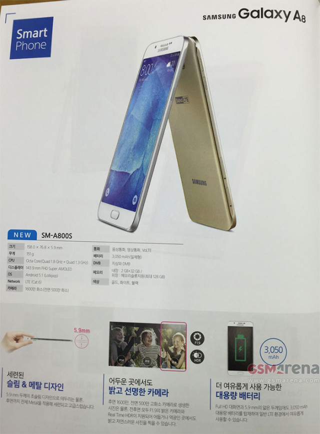 Brochure Galaxy A8 ALL