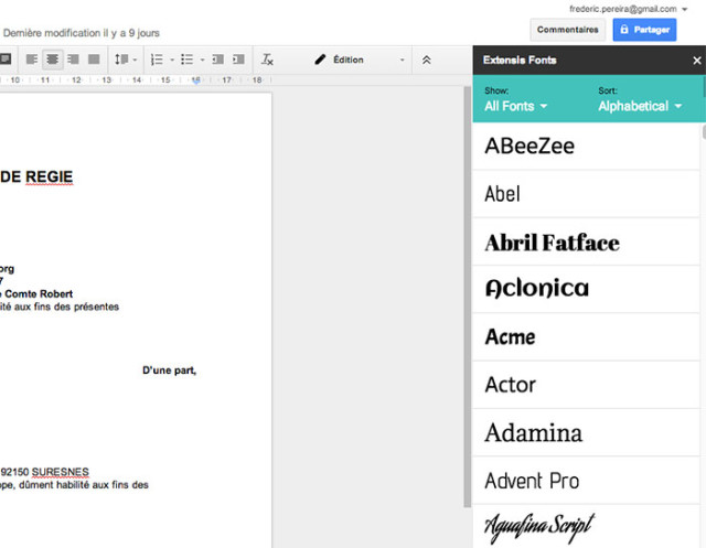 Capture Google Fonts Extensis