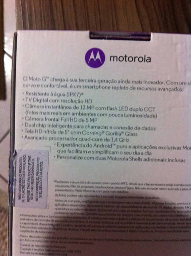 Moto G 2015 box : photo 2
