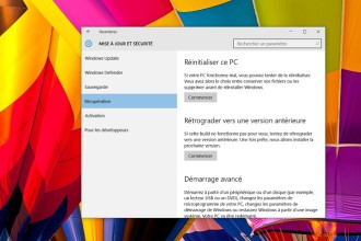 Revenir sur Windows 7