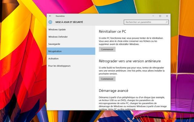 Windows 10 Comment Revenir A Une Version Anterieure