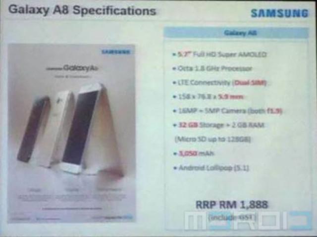 Affiche Galaxy A8