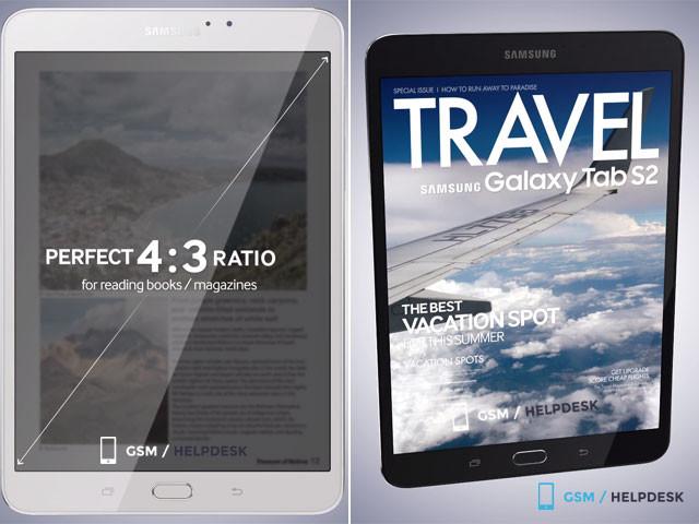 Samsung Galaxy Tab S2 : rendu 2