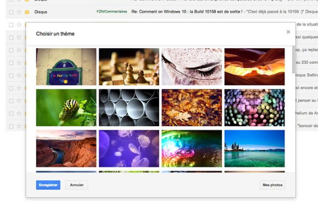 Modifier thème Gmail : capture 2